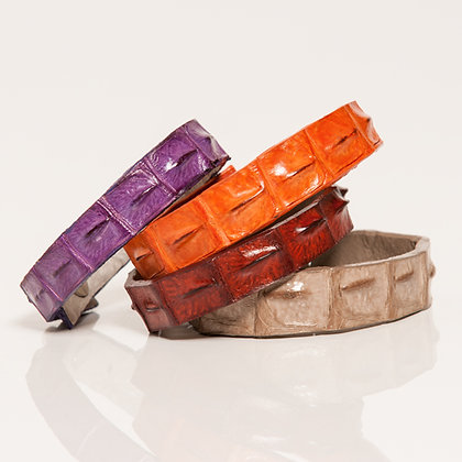 Kulu - Crocodile Skinny Cuffs