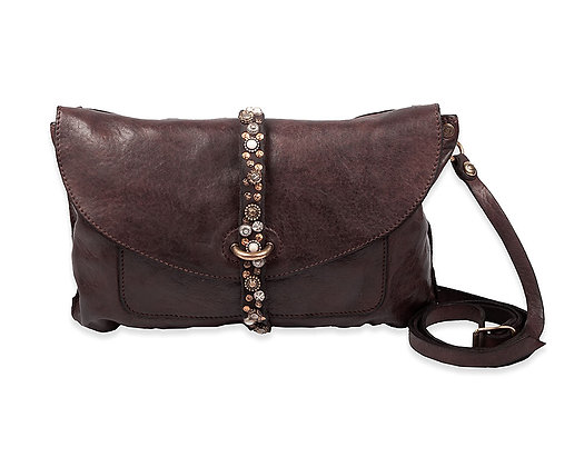 Campomaggi - Cross Body Flap Over Cefalù with Flower Studs