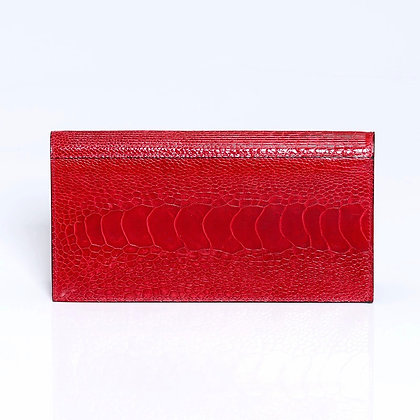 Kulu - Womens Ostrich Shin Wallet Red
