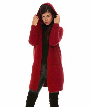 Koru - Longline Hooded Cardigan