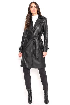 La Marque - The Radella Black Leather Trench Coat
