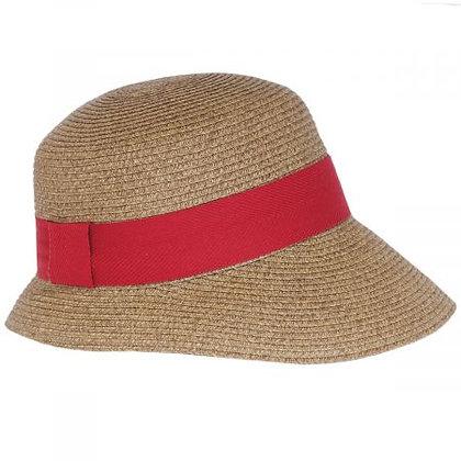 Toucan Hats - Asymmetrical Brim Toyo Straw Cloche Hat