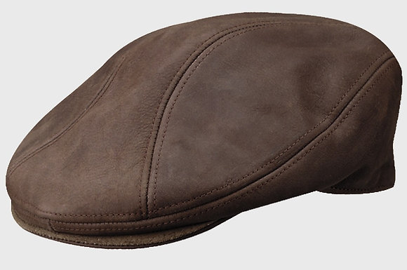 Dorfman - Distressed Leather Cap by Stetson