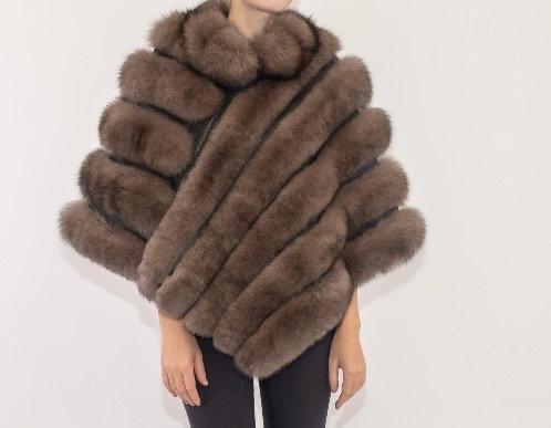 Belle Fare - Fox Fur Poncho Zip Closure