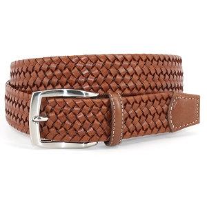 Torino Leather - Italian Woven Stretch Leather Belt