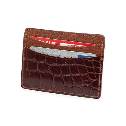 Martin Dingman - American Alligator Card Case Cognac