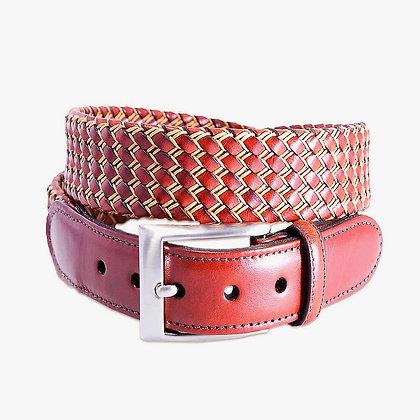 Torino Leather -  Italian Tube Braid Leather Belt