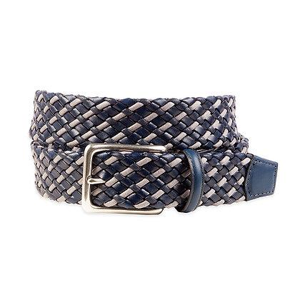 Torino - Tubular Woven Italian Leather Belt