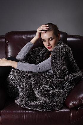 Belle Fare - Knit Rex Throw 50 x 70