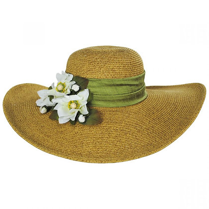Toucan Hats - Water Lily Toyo Straw Sun Hat