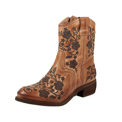 Rovers - Floral Low Heel Boot