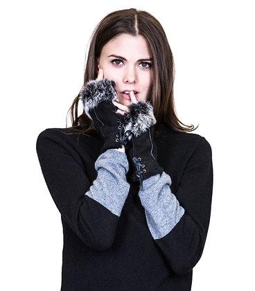 Belle Fare - Shearling Fingerless Gloves