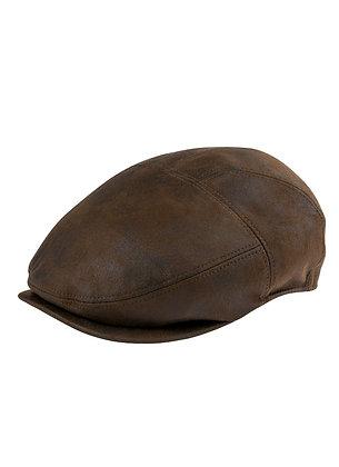 Henschel Hats - Distressed Faux Leather Duckbill Cap