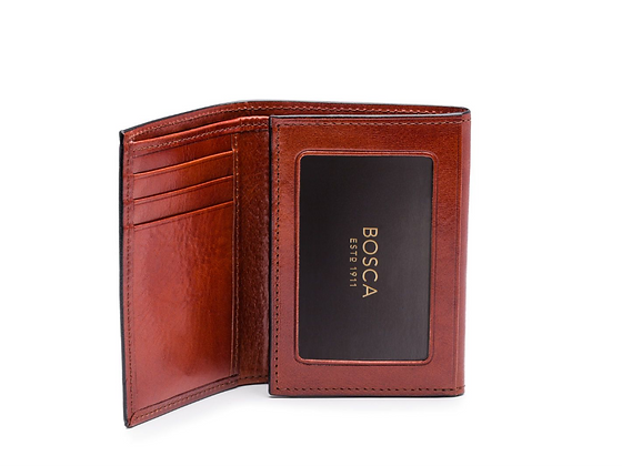 Bosca - Double ID Trifold in Old Leather