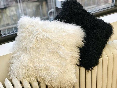 Belle Fare -  Mongolian Fur Pillow