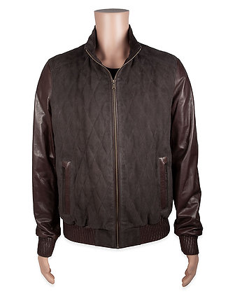 Made for Us! Quilted Suede & Leather Varsity Jacket