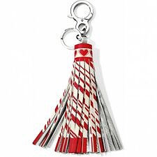 Brighton - Red and White Candy Stripe Boho Tassel
