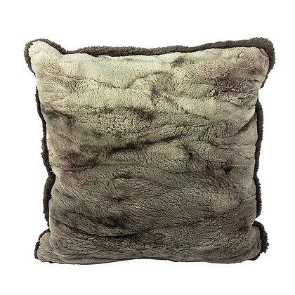 Paula Lishman - Sheared Beaver Mirage Pillow Green