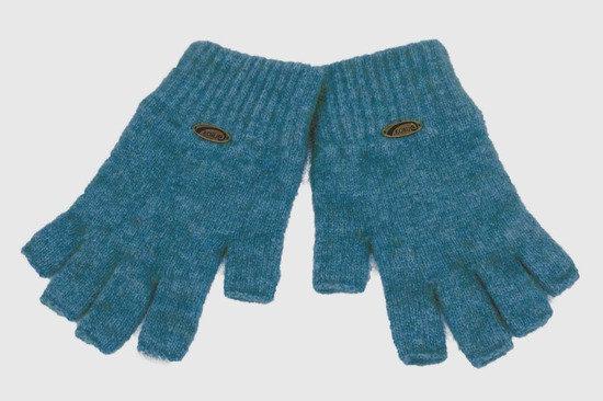 Koru - Fur Merino and Silk Fingerless Gloves