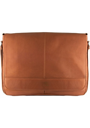 Mancini - Leather Messenger Bag for Laptop
