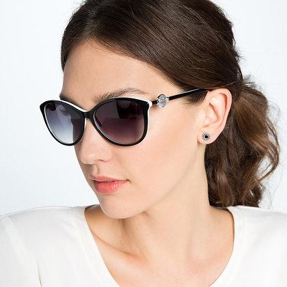 Brighton - Ferrara Sunglasses Black and White
