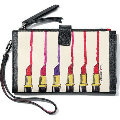 Brighton - Fashionista Hot Lips Double Zip Wallet