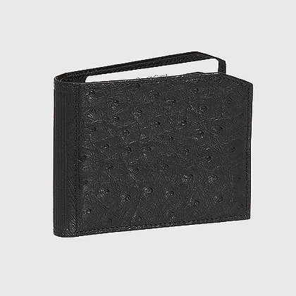 Kulu - South African Ostrich Quill Wallet Black