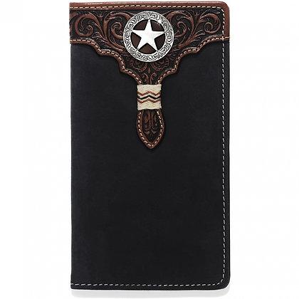 Brighton - Black Lone Star Checkbook Wallet