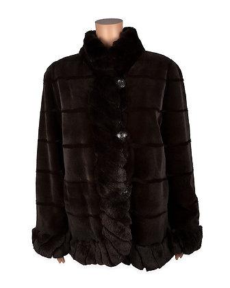 Chosen Furs - Plucked Mink with Rex Trim