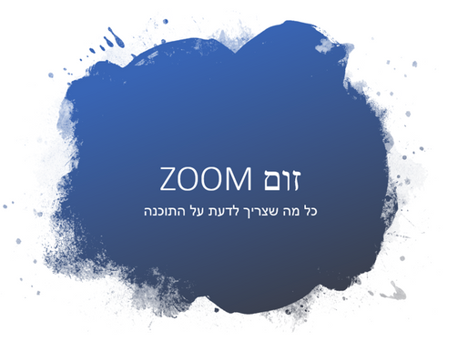 פגישות מרחוק באמצעות זום Zoom