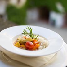 Gemüse - asia style - mit luftigem Mandelreis