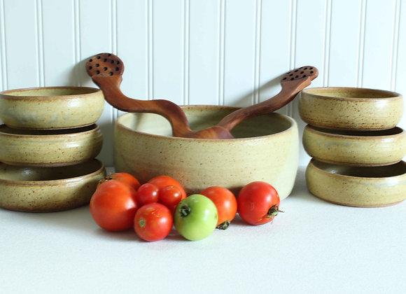 Salad Set - Large bowl + 6 small bowls