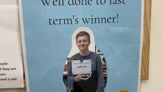 WELL DONE TO LAST TERM'S WINNER!