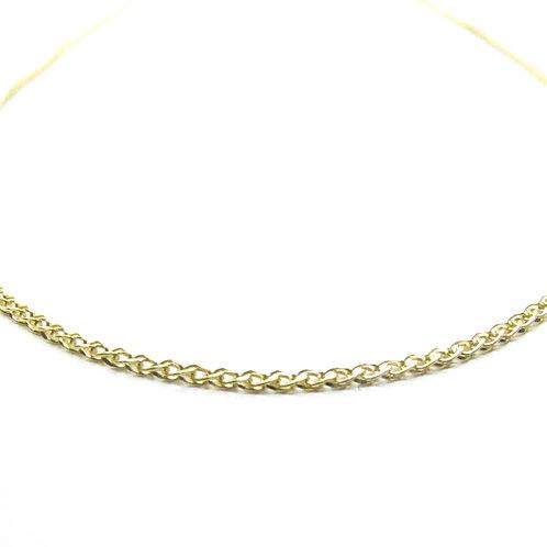 Cadena Oro 14k Doble Trenza Delgada 45cm