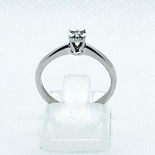 Anillo Compromiso Oro 14k Ilusión Diamante 0.04ct