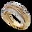 Thumbnail: Anillo Oro 14k Churumbela Zirconias Modelo AND0107A