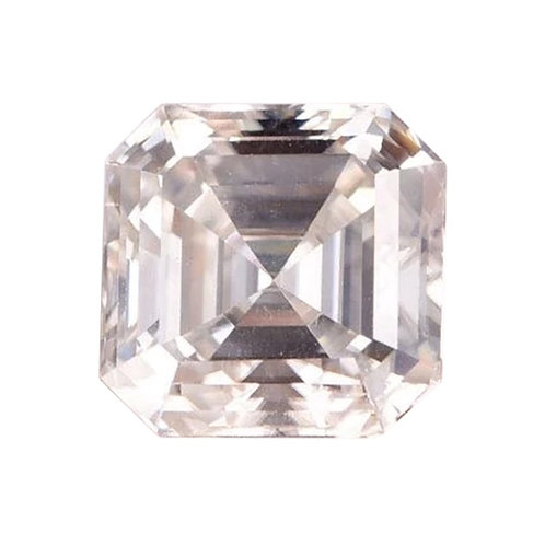 Moissanita Corte CAsscher 0.35ct - 4x4mm Color D Certificado