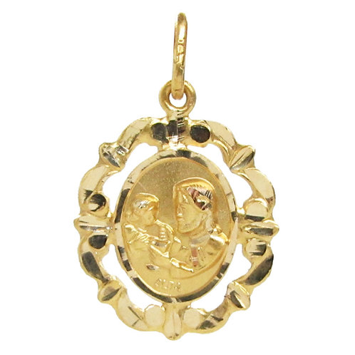 Medalla Oro 14k Religiosa Primera Comunión