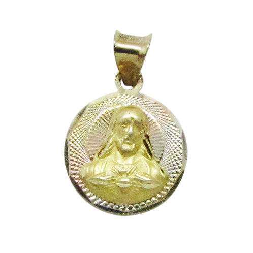 Medalla Oro 10k Florentino Redonda Corazón De Jesús