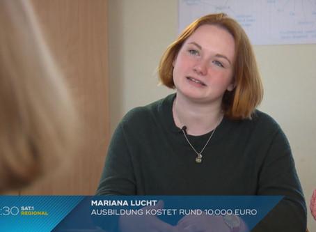 """SAT 1 Dreh an der ETOS zum Thema """"Schulgeldfreiheit für alle"""":"""