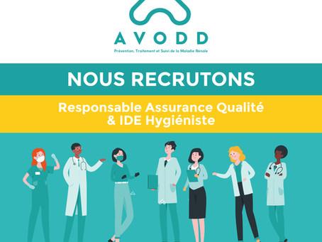 NOUS RECRUTONS | IDE hygiéniste & Responsable Assurance Qualité