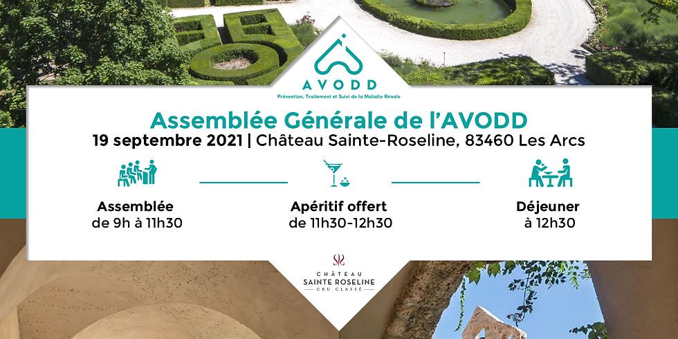 ASSEMBLÉE GÉNÉRALE DE L'AVODD