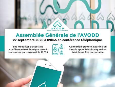 Assemblée générale de l'AVODD le 27 septembre