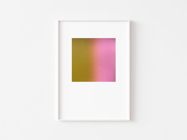Mustard/Baby Pink Silkscreen Degrade Print