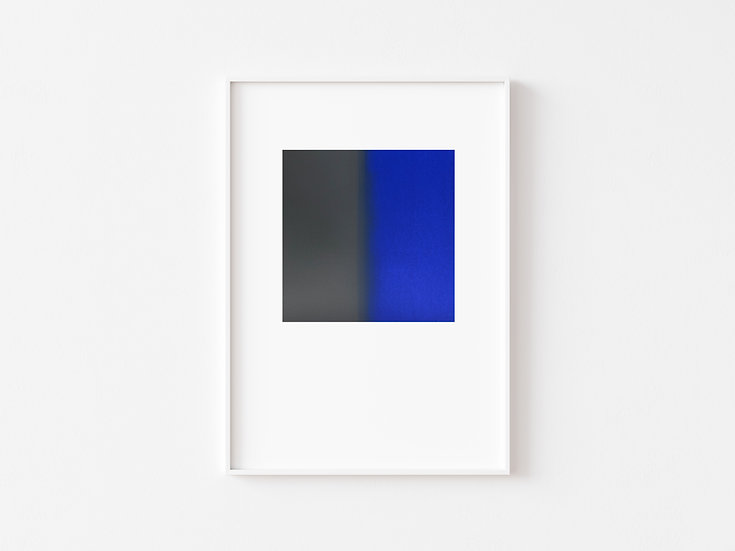 Grey/Electric Blue Degrade Silkscreen Print