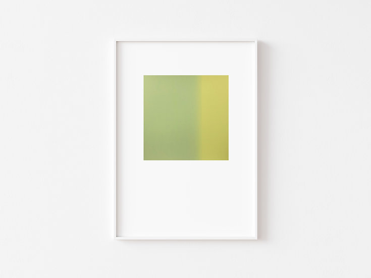Pistachio/Baby Yellow Degrade Silkscreen Print