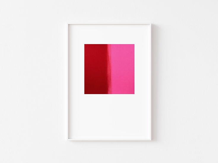 Red/Pink Degrade Silkscreen Print