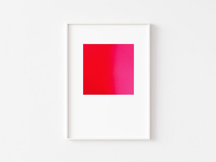 Red/Neon Pink Degrade Silkscreen Print