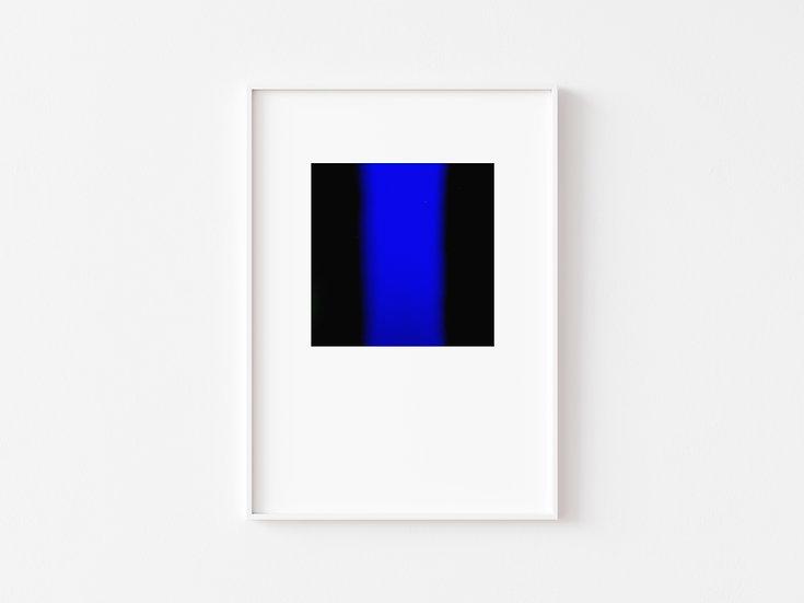 Black/Blue Degrade Silkscreen Print