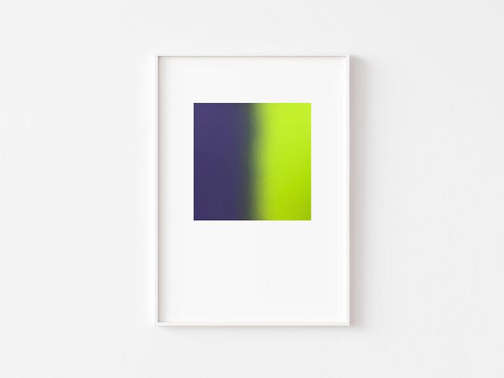 Purple/NeonYellow Degrade Silkscreen Print